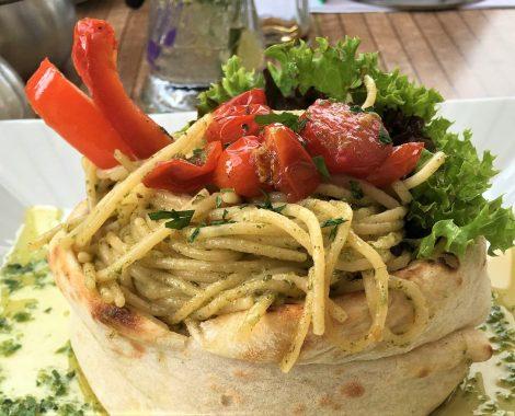 Nudelgericht des Cafe de mar